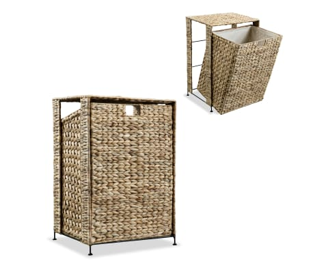 vidaXL Laundry Basket 44x34x64 cm Water Hyacinth