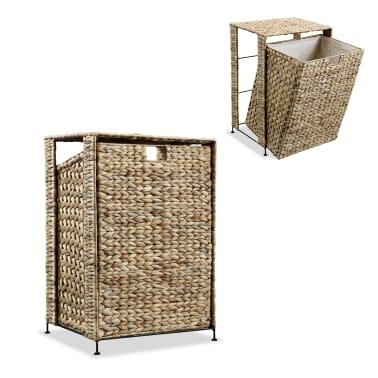 vidaXL Cesto para la ropa sucia de jacinto de agua 44x34x64 cm[1/7]