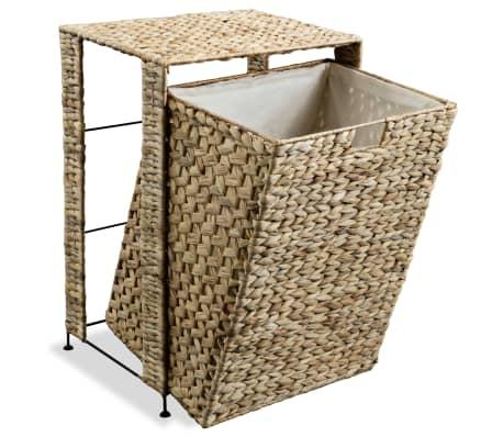 vidaXL Cesto para la ropa sucia de jacinto de agua 44x34x64 cm[5/7]