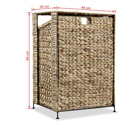vidaXL Cesto para la ropa sucia de jacinto de agua 44x34x64 cm[7/7]