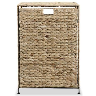 vidaXL Cesto para la ropa sucia de jacinto de agua 44x34x64 cm[3/7]
