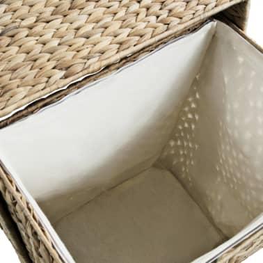 vidaXL Cesto para la ropa sucia de jacinto de agua 44x34x64 cm[6/7]