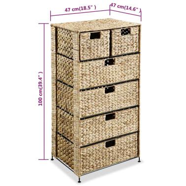 vidaXL Dulap de depozitare cu 6 coșuri, 47x37x100 cm, zambilă de apă[6/6]