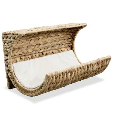 vidaXL Mačja postelja z blazino vodna hijacinta 37x20x20 cm[1/6]