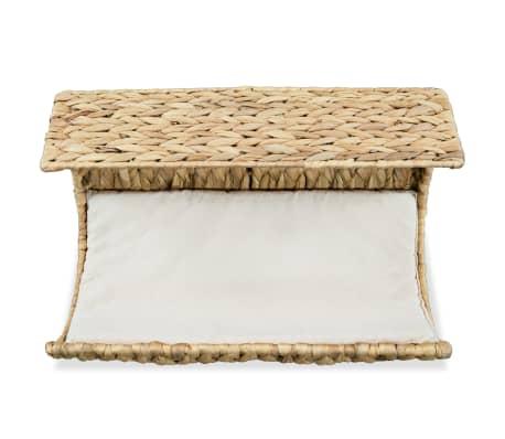vidaXL Mačja postelja z blazino vodna hijacinta 37x20x20 cm[2/6]