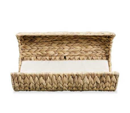 vidaXL Mačja postelja z blazino vodna hijacinta 37x20x20 cm[3/6]