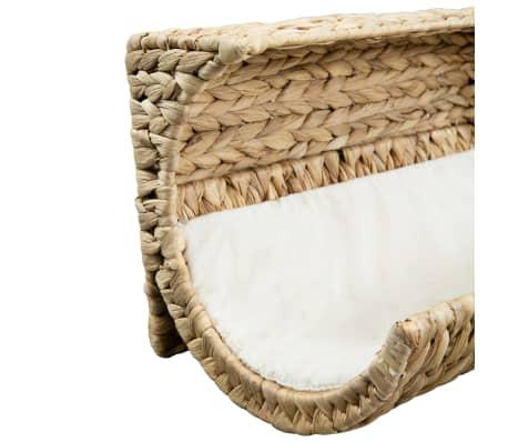 vidaXL Mačja postelja z blazino vodna hijacinta 37x20x20 cm[5/6]