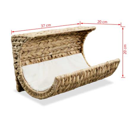 vidaXL Mačja postelja z blazino vodna hijacinta 37x20x20 cm[6/6]