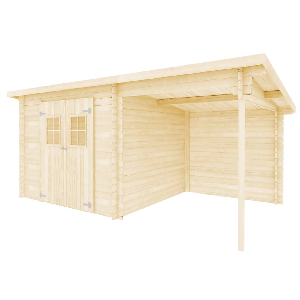 99943864 Blockhaus Gartenschuppen Massivholz 28 mm 5,3 x 3 m