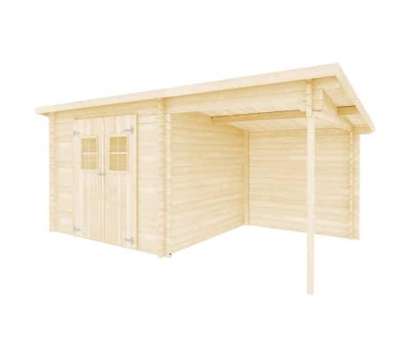 vidaXL Tuinhuis 5,3x3 m 28 mm massief hout[2/10]