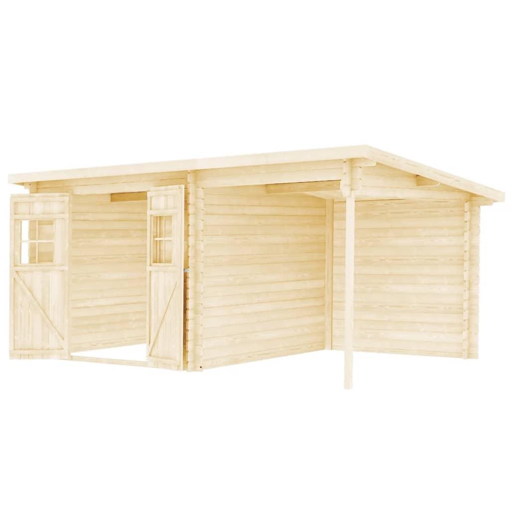 vidaXL Tuinhuis 5,3x3 m 28 mm massief hout