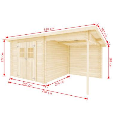 vidaXL Tuinhuis 5,3x3 m 28 mm massief hout[10/10]