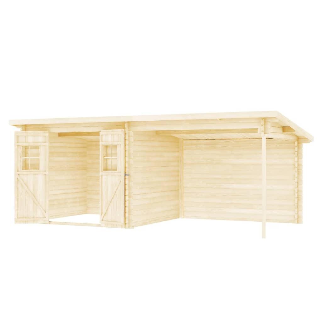 vidaXL Tuinhuis 28 mm 6,3x3 m massief hout