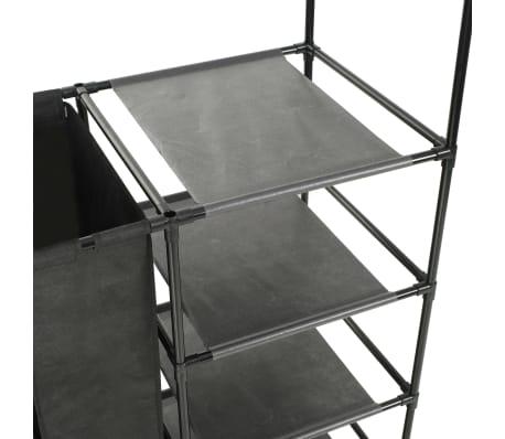 vidaXL Kleiderständer Stahl und Vliesstoff 87 x 44 x 158 cm Schwarz[4/7]