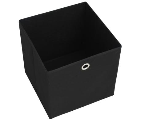 vidaXL Daiktadėžės, 4vnt., neaustinis audinys, 32x32x32cm, juodos[5/7]