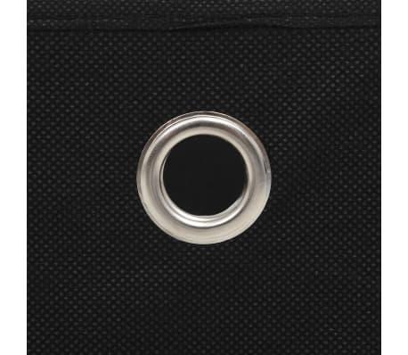vidaXL Daiktadėžės, 4vnt., neaustinis audinys, 32x32x32cm, juodos[6/7]