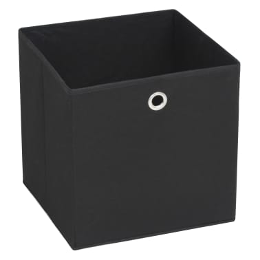 vidaXL Daiktadėžės, 4vnt., neaustinis audinys, 32x32x32cm, juodos[2/7]