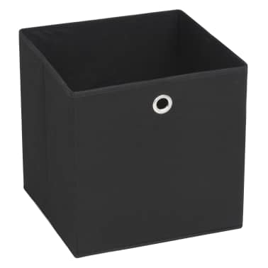 vidaXL opbevaringskasser 10 stk. uvævet stof 32 x 32 x 32 cm sort[2/7]