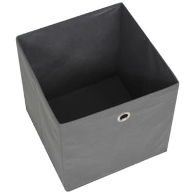 vidaXL Cajas de almacenaje 4 unidades textil no tejido 32x32x32cm gris[4/7]