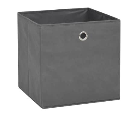 vidaXL Boîte de rangement 10 pcs Tissu non-tissé 32 x 32 x 32 cm Gris[2/7]