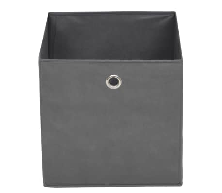 vidaXL Boîte de rangement 10 pcs Tissu non-tissé 32 x 32 x 32 cm Gris[4/7]