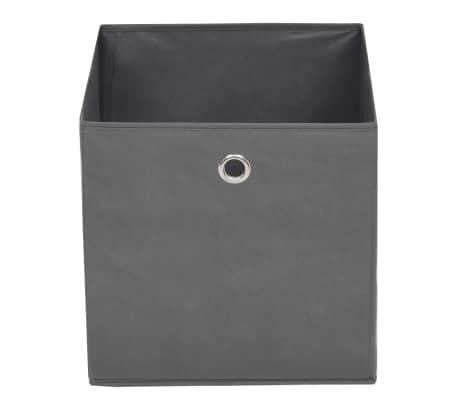 vidaXL Cutii de depozitare, 10 buc, material nețesut, 32x32x32 cm, Gri[4/7]
