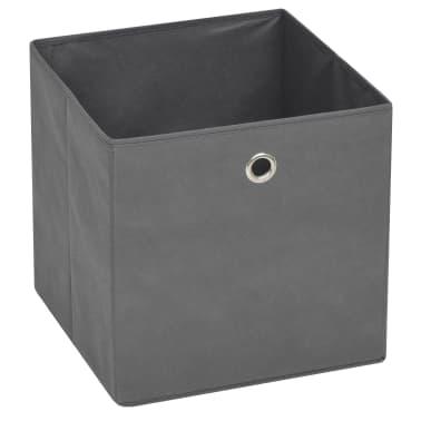 vidaXL Boîte de rangement 10 pcs Tissu non-tissé 32 x 32 x 32 cm Gris[3/7]