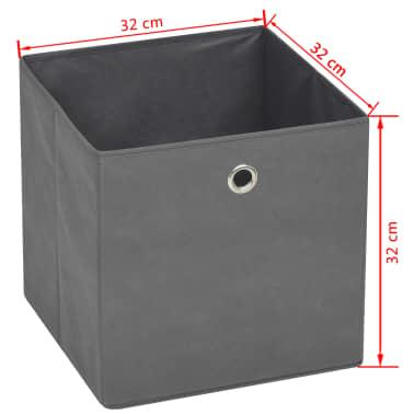 vidaXL Boîte de rangement 10 pcs Tissu non-tissé 32 x 32 x 32 cm Gris[7/7]