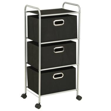 vidaXL Estantería con 3 cajas de almacenaje acero y textil no tejido[1/7]