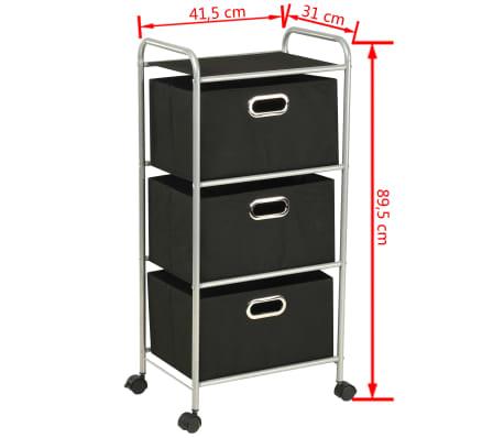 vidaXL Estantería con 3 cajas de almacenaje acero y textil no tejido[7/7]
