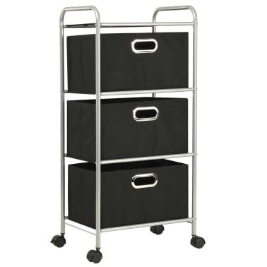 vidaXL Estantería con 3 cajas de almacenaje acero y textil no tejido[2/7]