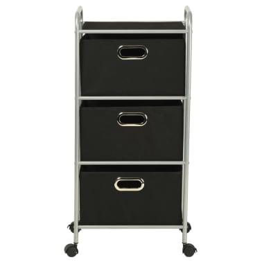 vidaXL Estantería con 3 cajas de almacenaje acero y textil no tejido[4/7]