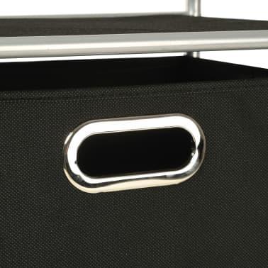 vidaXL Estantería con 3 cajas de almacenaje acero y textil no tejido[5/7]