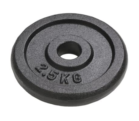 vidaXL Plaque de poids 8 pcs 20 kg Fonte[2/4]