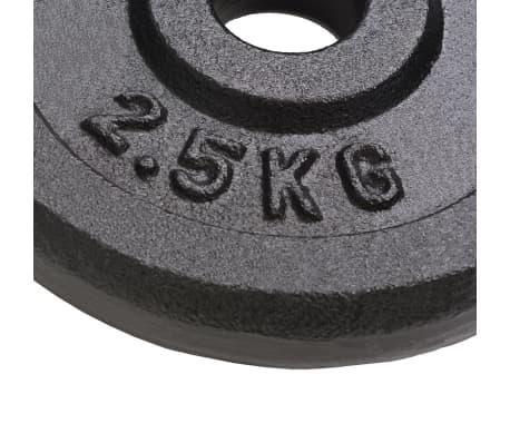 vidaXL Plaque de poids 8 pcs 20 kg Fonte[3/4]