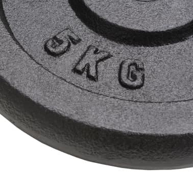 vidaXL Plăci de greutate, 4 buc, 20 kg fontă[4/4]