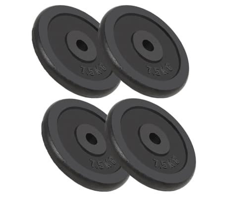 vidaXL Discos de musculação 4 pcs 30 kg ferro fundido[1/4]