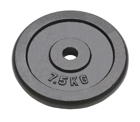 vidaXL Discos de musculação 4 pcs 30 kg ferro fundido[2/4]