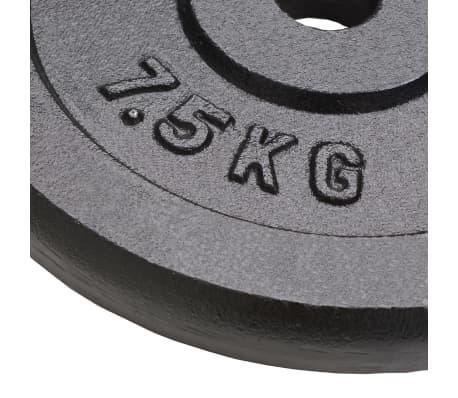vidaXL Plaque de poids 4 pcs 30 kg Fonte[3/4]