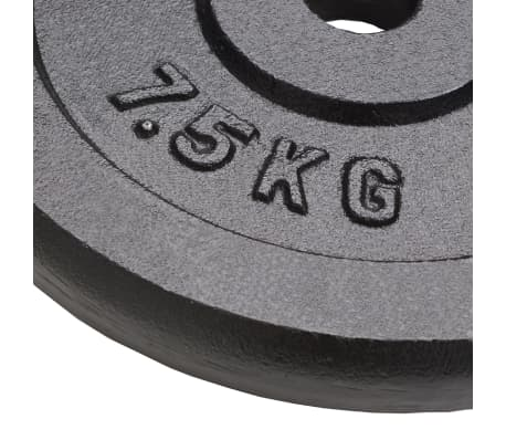 vidaXL 4 db öntöttvas súlyzótárcsa 30 kg[3/4]
