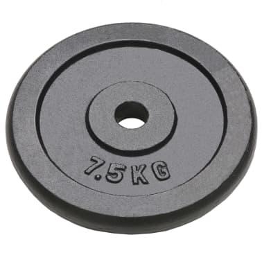 vidaXL Plaque de poids 4 pcs 30 kg Fonte[2/4]