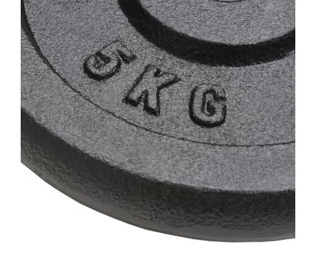 vidaXL Plaque de poids 4 pcs 2 x 10 kg + 2 x 5 kg Fonte[5/6]