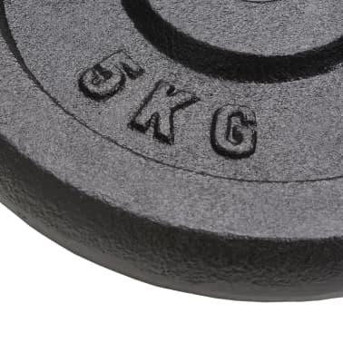 vidaXL Hantelscheiben 4 Stk. 2 x 10 kg + 2 x 5 kg Gusseisen[5/6]