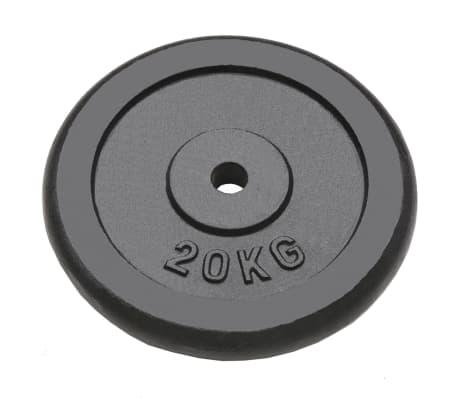 vidaXL Plaque de poids 2 pcs 40 kg Fonte[2/4]