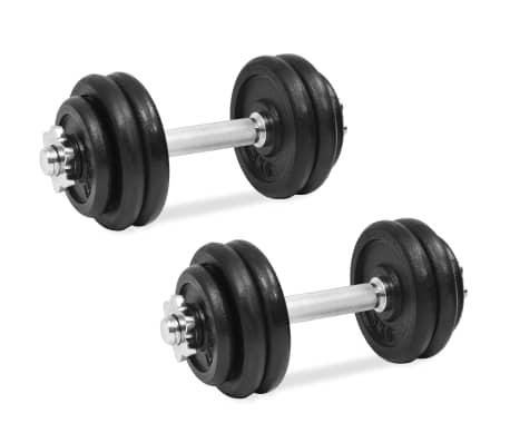 vidaXL 18 részes öntöttvas súlyzókészlet 30 kg[1/6]