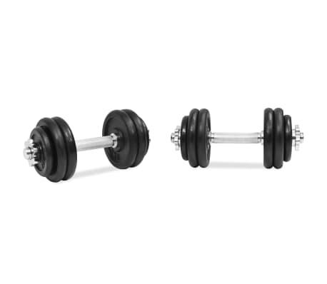 vidaXL 18 részes öntöttvas súlyzókészlet 30 kg[3/6]