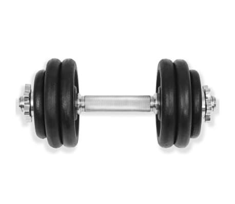 vidaXL 18 részes öntöttvas súlyzókészlet 30 kg[4/6]