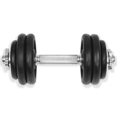 vidaXL hanteļu komplekts, 18 gab., 30 kg, čuguns[4/6]