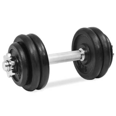 vidaXL 18 részes öntöttvas súlyzókészlet 30 kg[5/6]