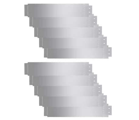 vidaXL Μπορντούρες Γκαζόν 10 τεμ. 100 x 20 εκ. Γαλβανισμένος Χάλυβας